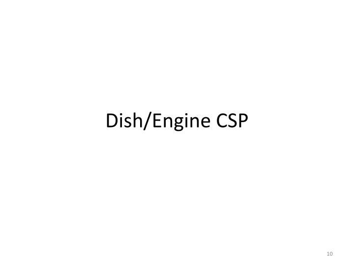 Dish/Engine CSP