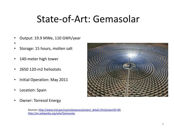 State-of-Art: Gemasolar