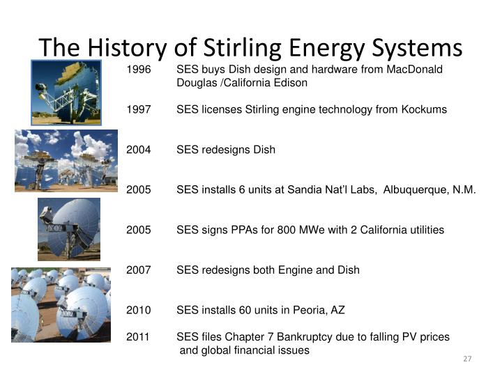The History of Stirling Energy Systems
