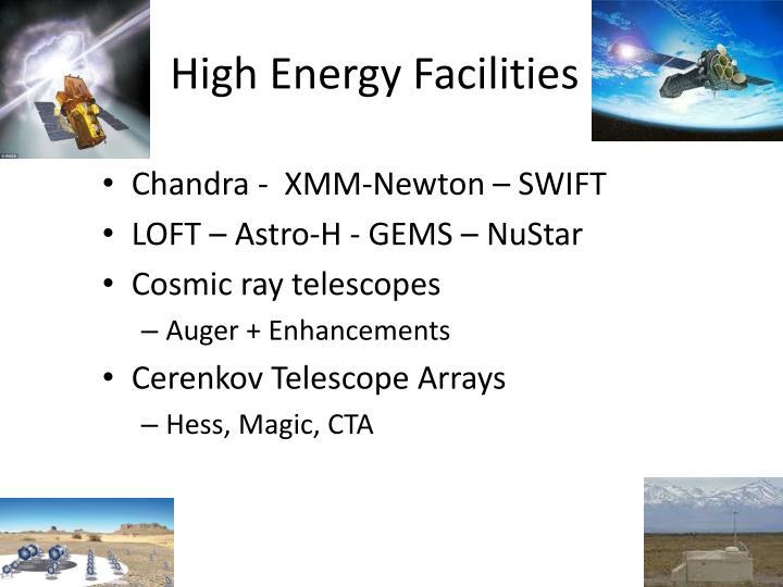 High Energy Facilities