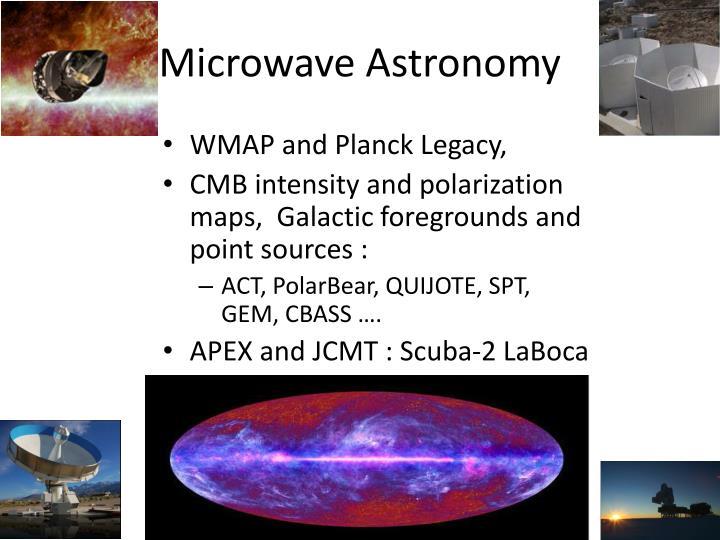 Microwave Astronomy
