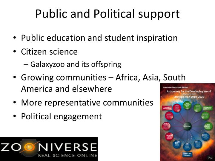 Public and Political support