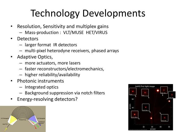 Technology Developments