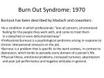 burn out syndrome 1970
