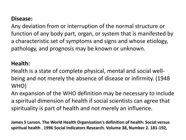 Disease: