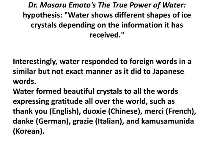 Dr. Masaru