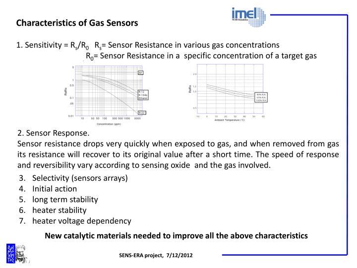 Characteristics of Gas Sensors