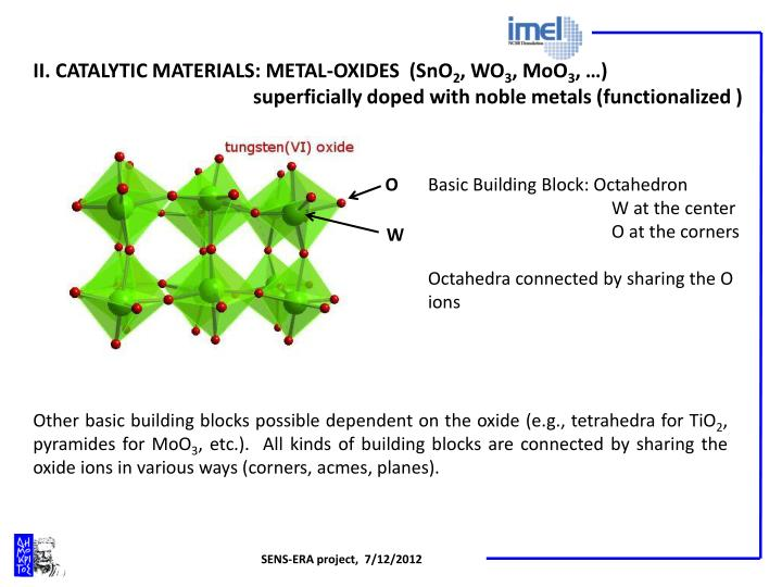 II. CATALYTIC MATERIALS: METAL-OXIDES  (SnO