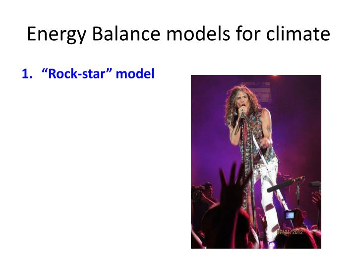 Energy Balance models for climate
