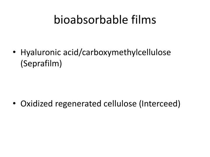 bioabsorbable