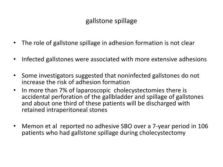 gallstone spillage
