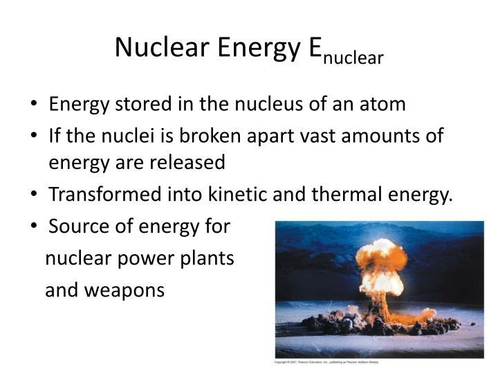 Nuclear Energy E
