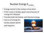 nuclear energy e nuclear