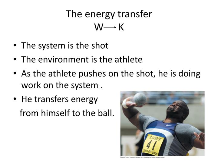 The energy transfer