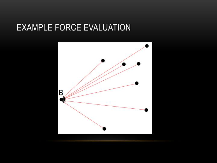 Example force evaluation