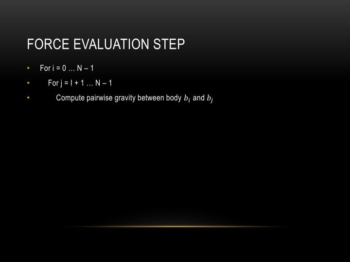 Force Evaluation step