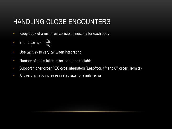Handling close encounters