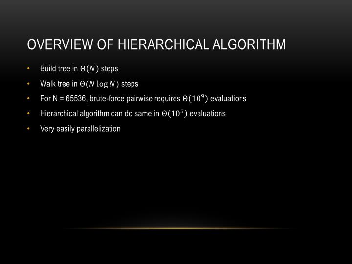 Overview of hierarchical algorithm
