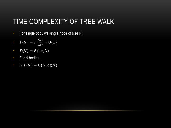Time complexity of tree walk