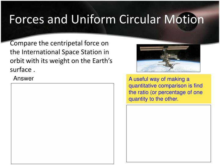 Forces and Uniform Circular Motion
