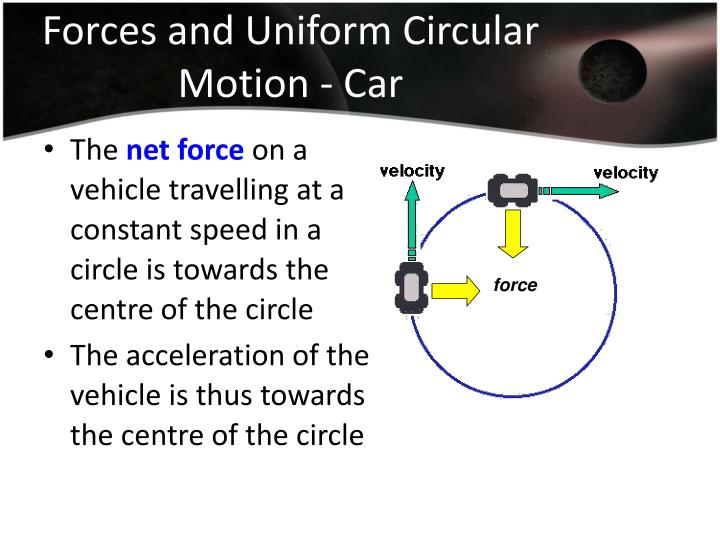 Forces and Uniform Circular Motion - Car