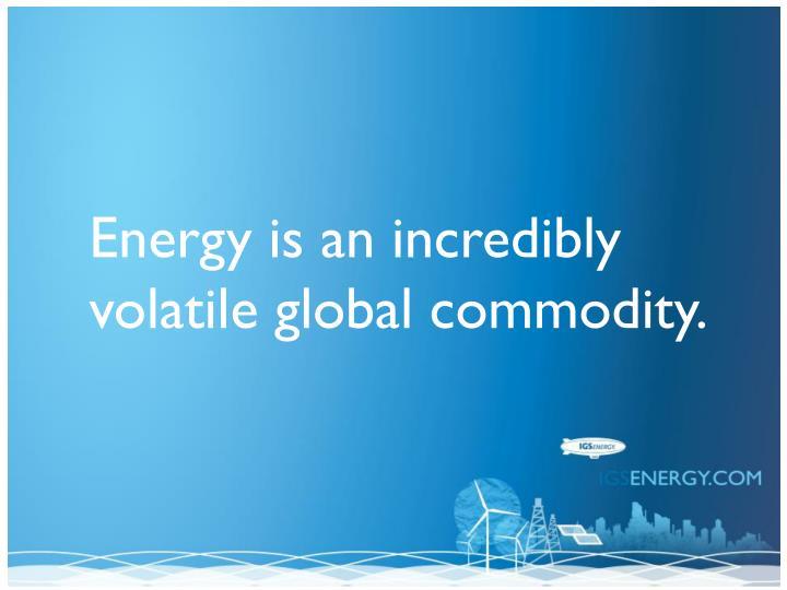 Energy is