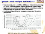ignition basic concepts from ame 513