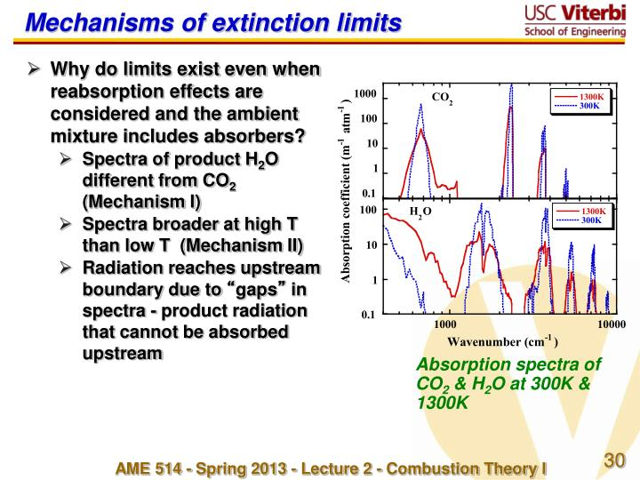 Mechanisms of extinction limits