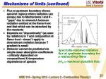 mechanisms of limits continued