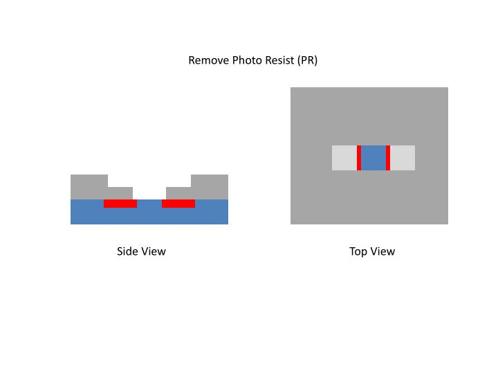 Remove Photo Resist (PR)
