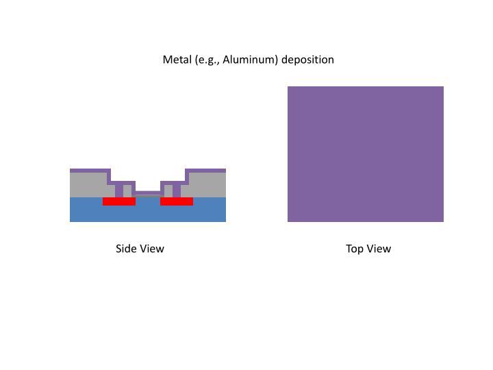 Metal (e.g., Aluminum) deposition