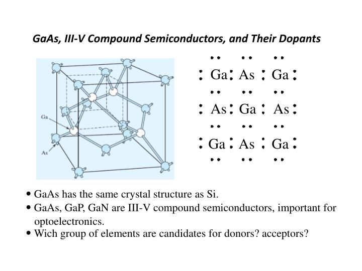 GaAs, III-V Compound Semiconductors, and Their Dopants