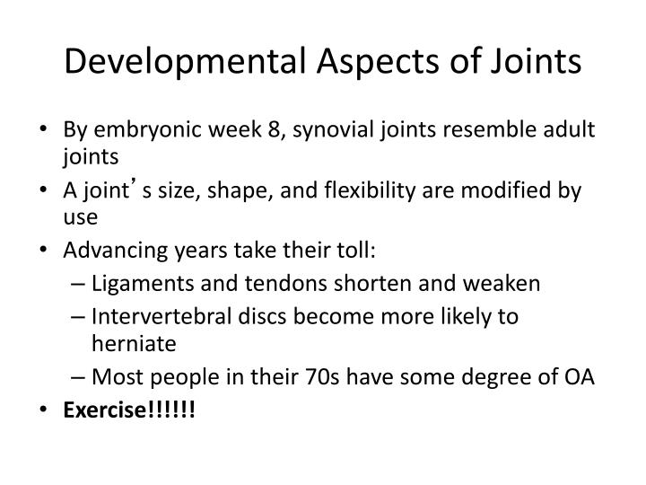 Developmental Aspects of Joints
