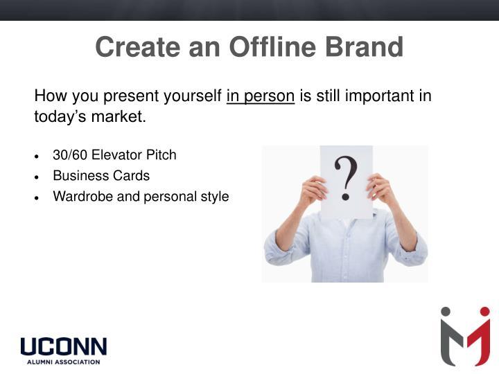 Create an Offline Brand