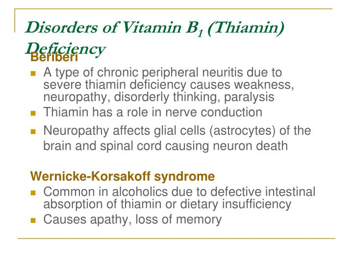 Disorders of Vitamin B