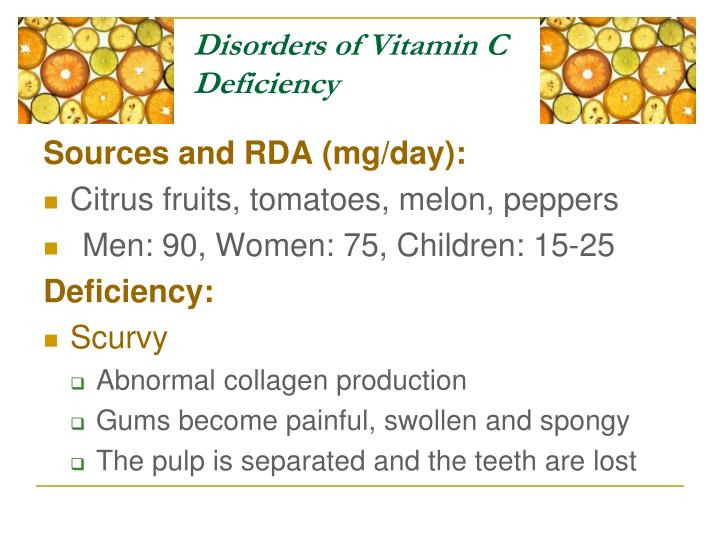 Disorders of Vitamin C