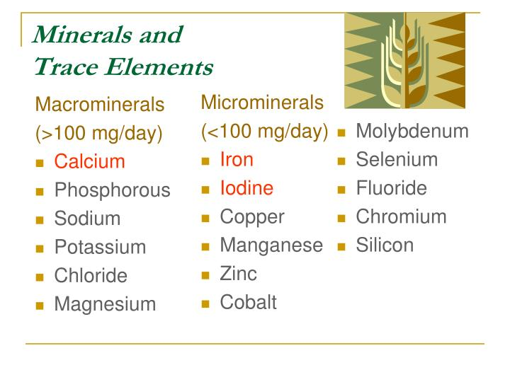 Minerals and