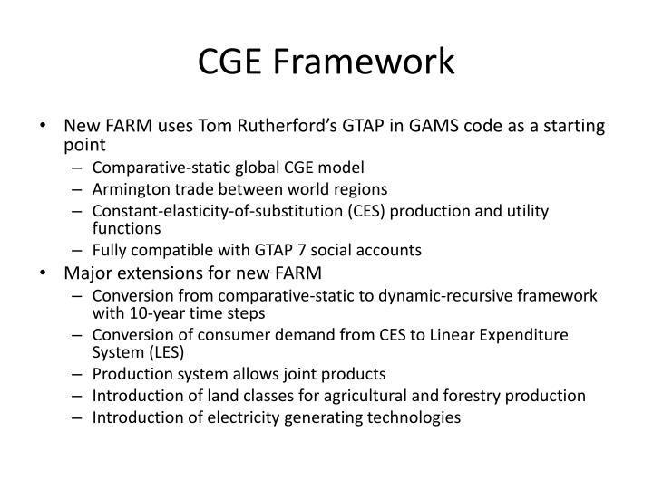 CGE Framework