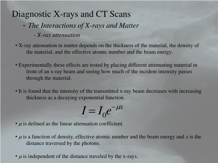 Diagnostic X-rays and CT Scans