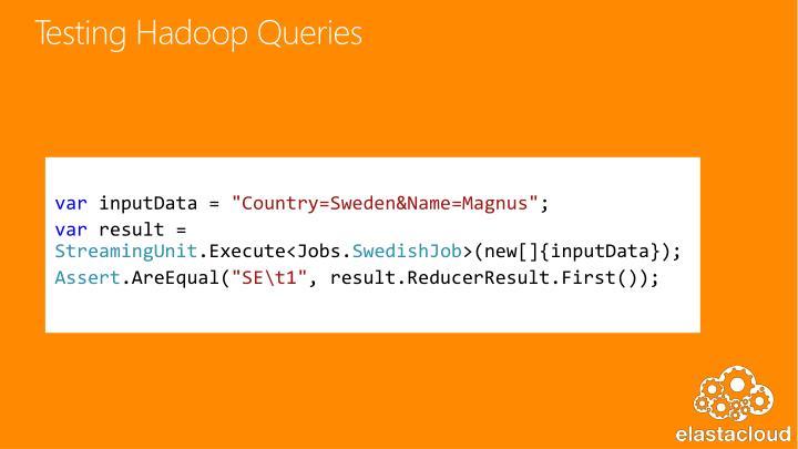 Testing Hadoop Queries