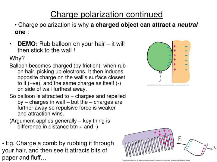 Charge polarization continued