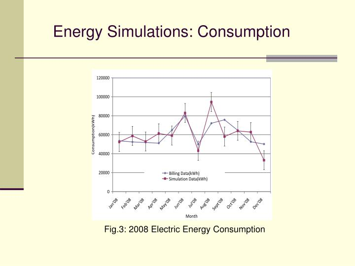 Energy Simulations: Consumption