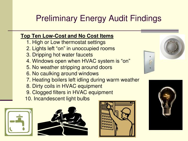 Preliminary Energy Audit Findings