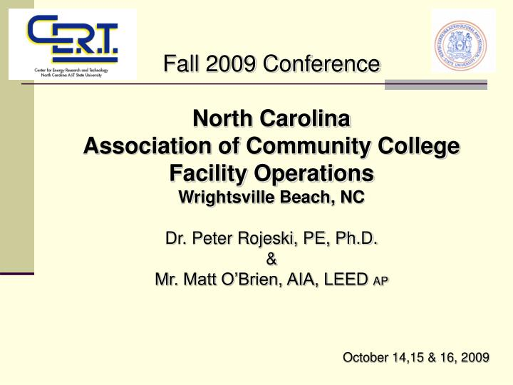 Fall 2009 Conference