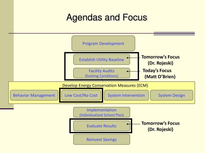 Agendas and Focus