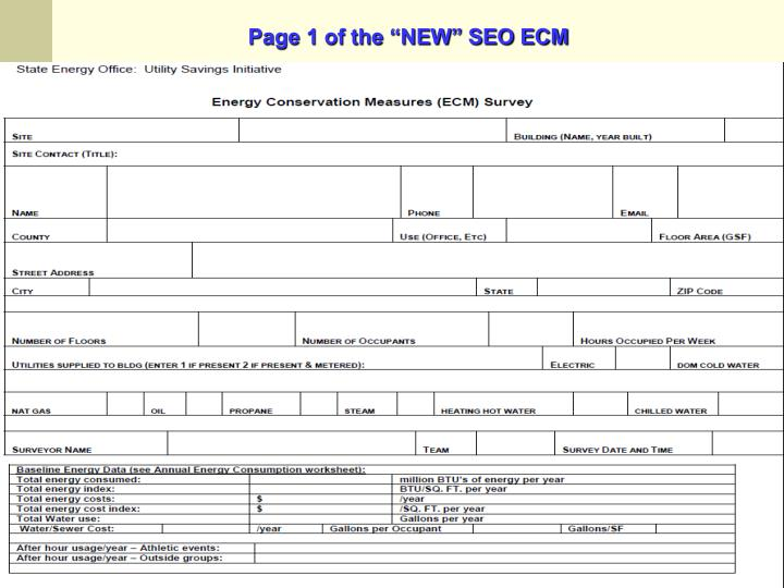 "Page 1 of the ""NEW"" SEO ECM"