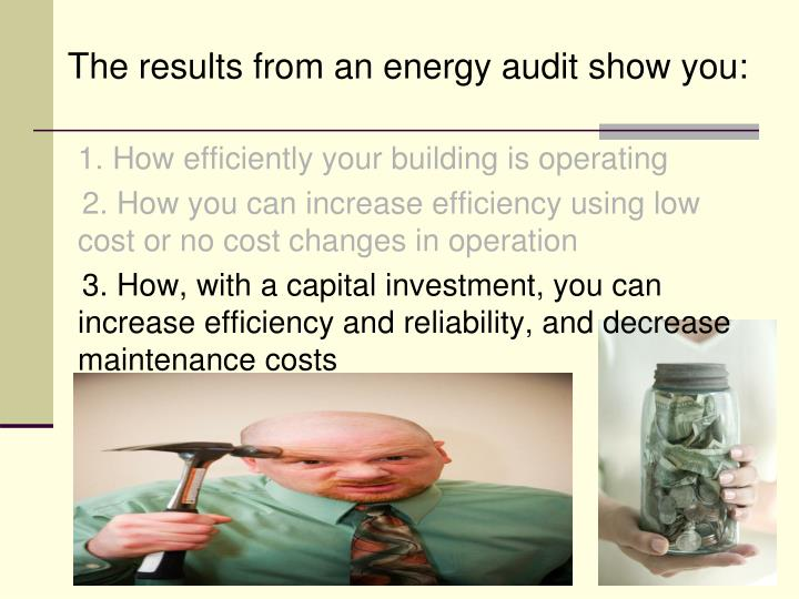 The results from an energy audit show you: