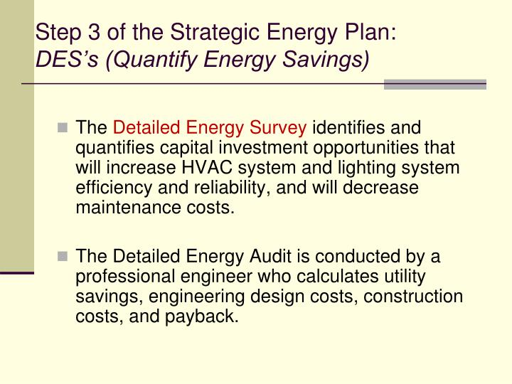 Step 3 of the Strategic Energy Plan: