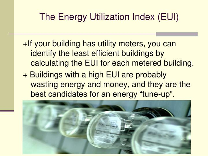 The Energy Utilization Index (EUI)