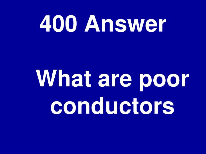 400 Answer